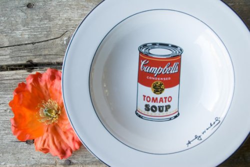 warhol soup bowl