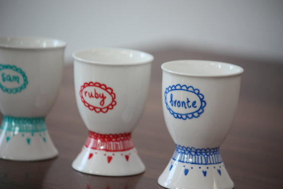 personalized egg cups