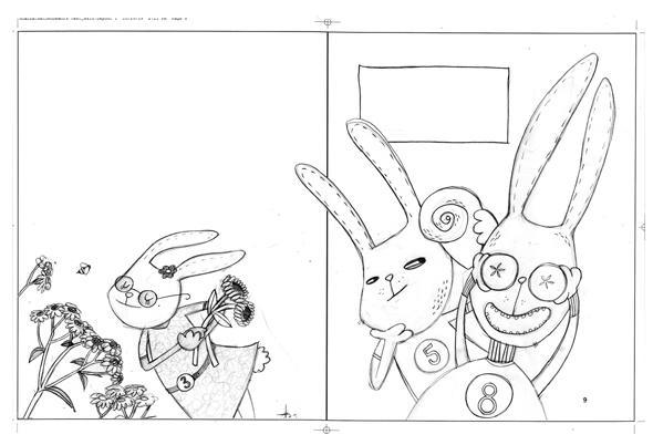 rabbits sketch