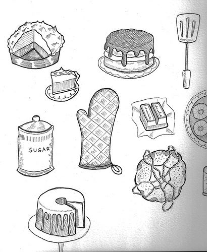 line drawings cakespy