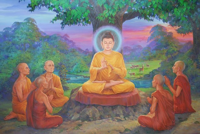 monks Buddha with first five disciples earthyogi blogspot com