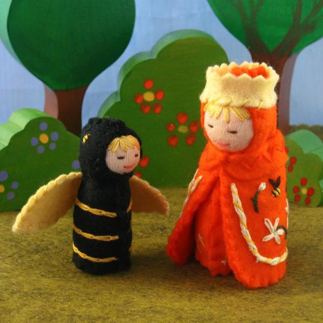 orange and bee