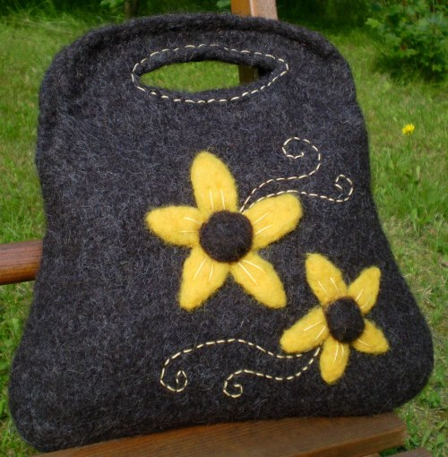 My first ever felted bag