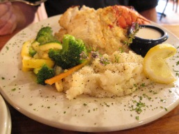 Huge Stuffed Haddock Dinner at F & J's