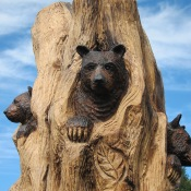 New bear carving at L.L. Bean, Freeport