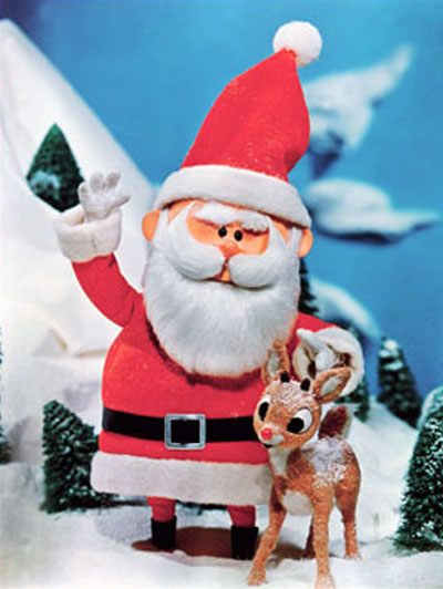 Santa Claus and Rudolph from Santa Claus is Coming to Town