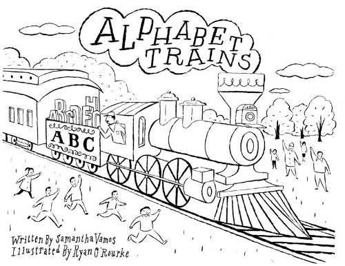 review and author chat samantha r vamos on alphabet trains 19th Century Gold click here for free downloadable alphabet trucks coloring page